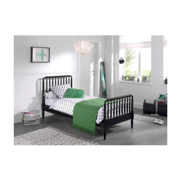 Černá dětská postel Vipack Alana, 90x200cm