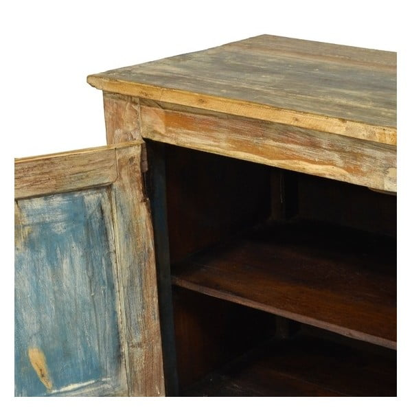 Dřevěná nízká komoda Goa