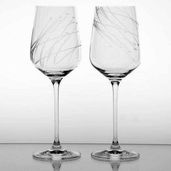 Ateliér Žampach, set 2 ks skleniček na bílé víno Sítina