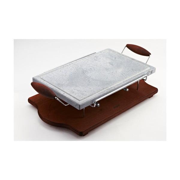 Deska k opékání na kameni Bisetti Stone Plate, 30x52 cm