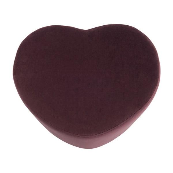 Bordó sedací puf ve tvaru srdce J-Line