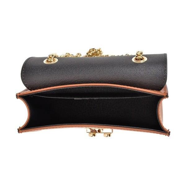 Koňakově hnědá kožená kabelka Sofia Cardoni Light