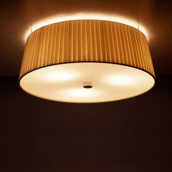 Krémové stropní svítidlo Bulb Attack Dos Plisado,⌀36cm