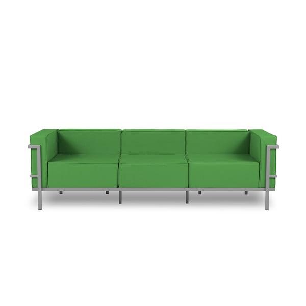 Canapea cu 3 locuri adecvată pentru exterior Calme Jardin Cannes, gri - verde