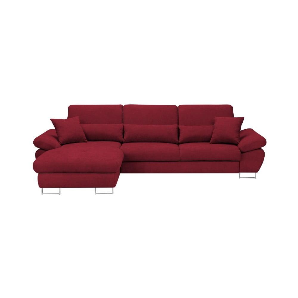 Červená rozkládací rohová pohovka Windsor & Co Sofas Pi, levý roh