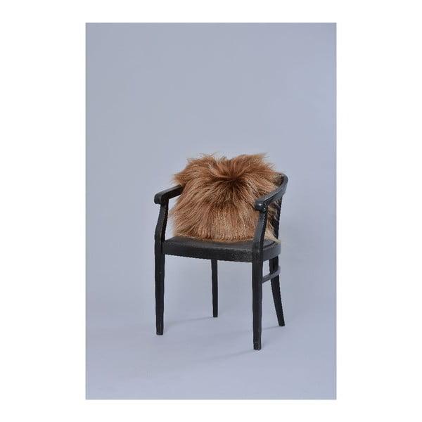 Oboustranný kožešinový polštář s dlouhým chlupem Rusty, 50x50 cm