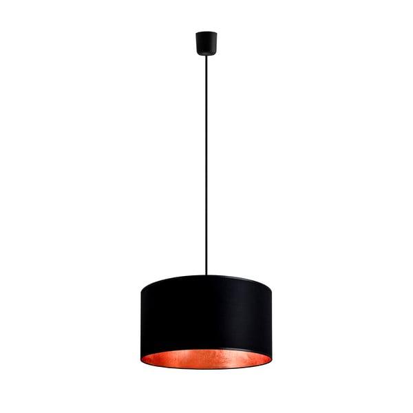 Stropní lampa Tres, černá/měděná, průměr 36 cm