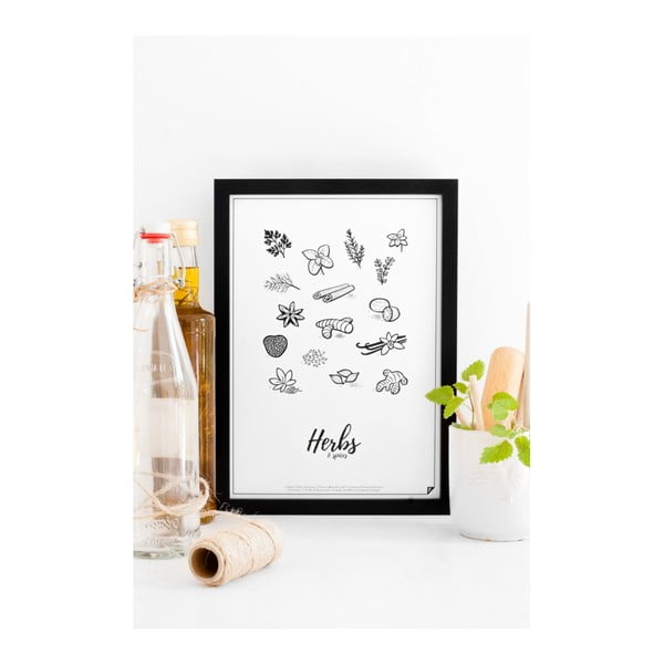 Plakát Follygraph Herbs & Spices, 21x30cm