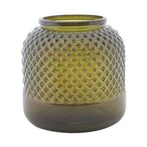 Vază din sticlă reciclată Mauro Ferretti Bolt, ⌀ 19 cm, verde