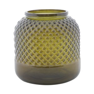 Zelená váza z recyklovaného skla Mauro Ferretti Bolter, ⌀ 19 cm