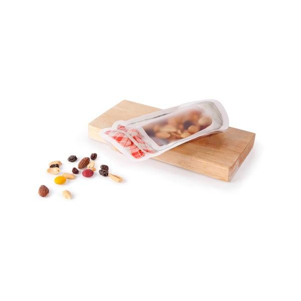 Set 3 pungi ermetice pentru alimente Kikkerland Jam Jar, 475 ml