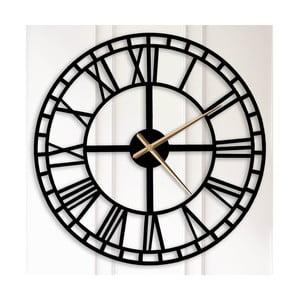 Černé kovové nástěnné hodiny Bertha