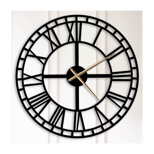 Černé nástěnné hodiny Bertha