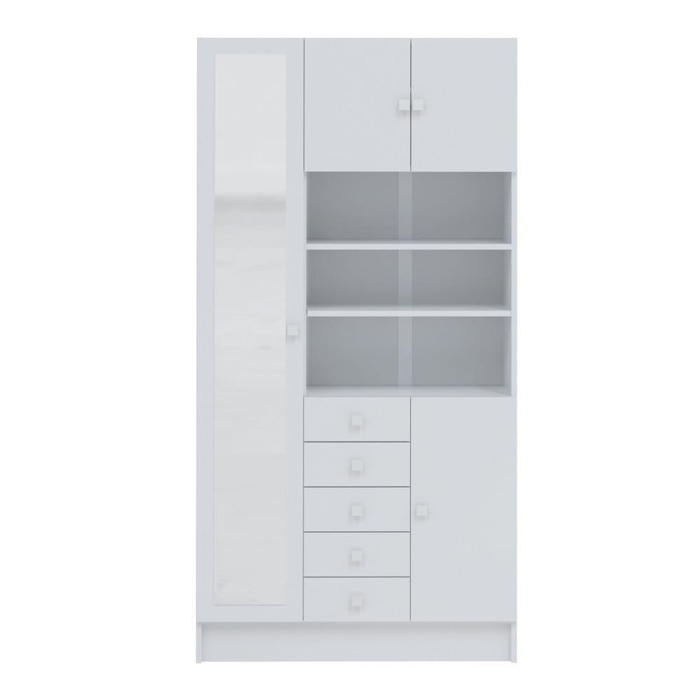 Bílá koupelnová skříňka Symbiosis André, šířka 90 cm