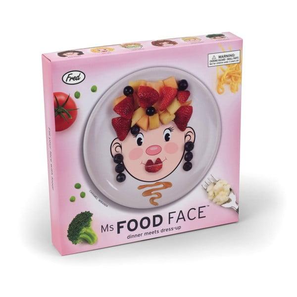 Dětský talíř Fred & Friends Ms. Food Face