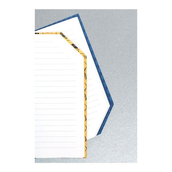Ručně šitý linkovaný zápisník Calico Runtu