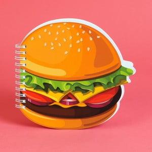 Zápisník ve tvaru cheeseburgeru Just 4 Kids Cheeseburger, 100 stránek