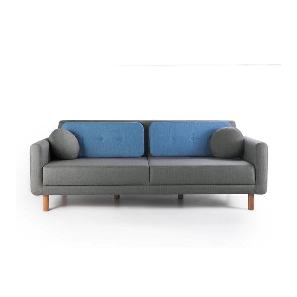 Rozkládací sofa Bubi Grey/Blue