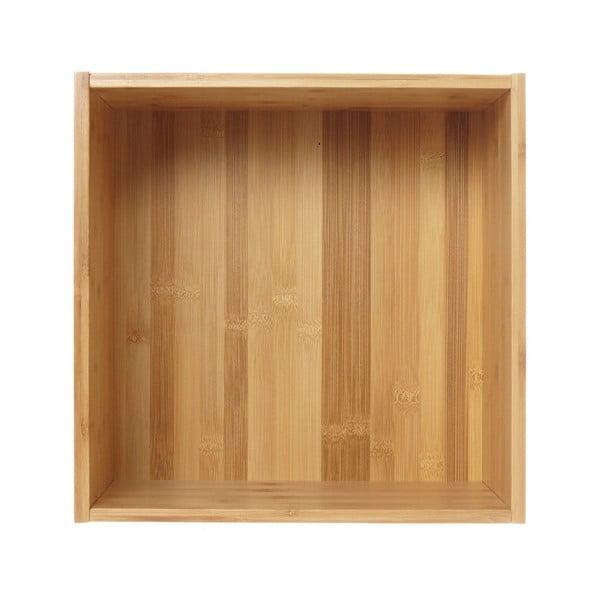Raft de perete din lemn de bambus Furniteam Design, 35 x 35 cm