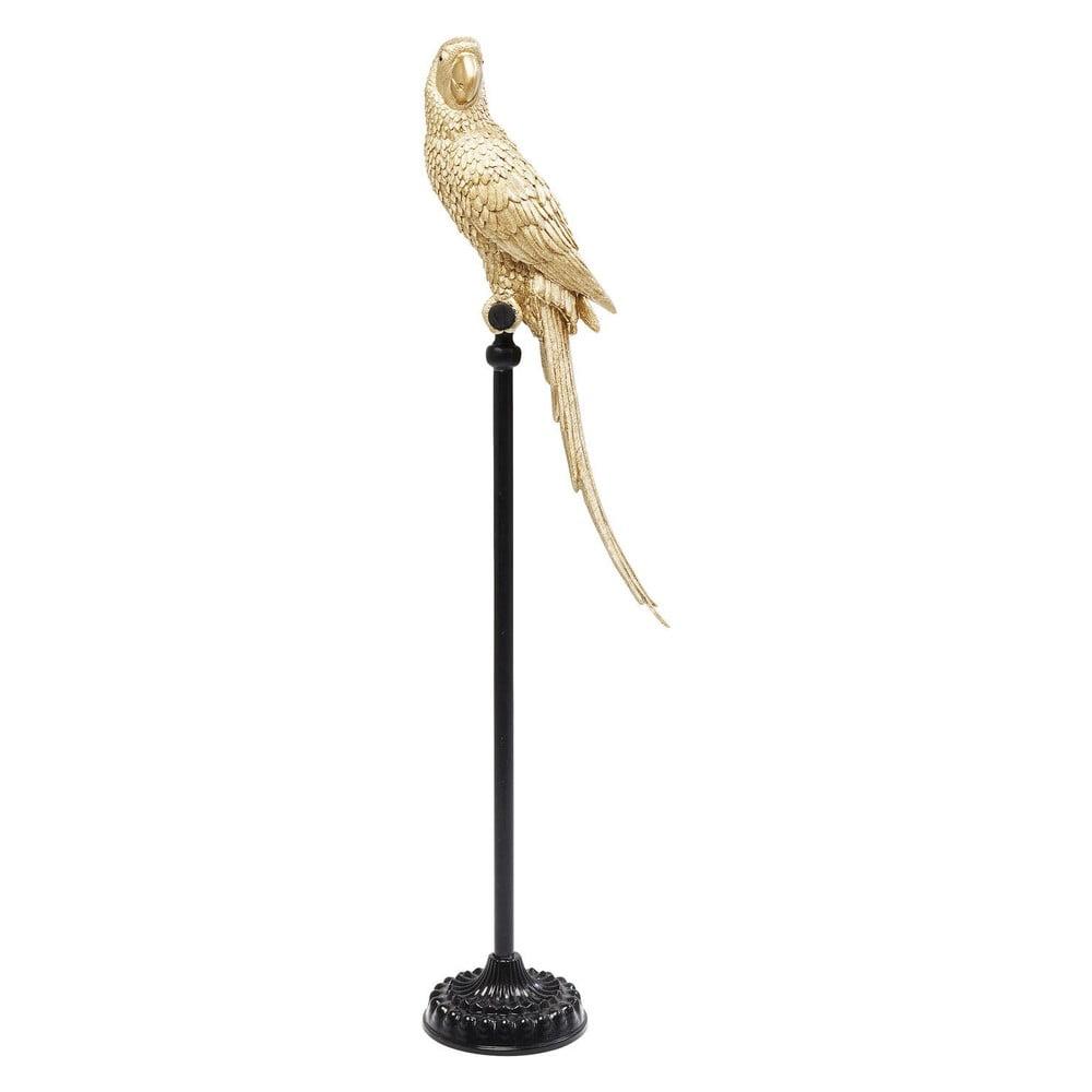 Dekorativní socha papouška ve zlaté barvě Kare Design