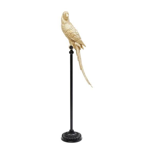 Dekoratívna socha papagája v zlatej farbe Kare Design