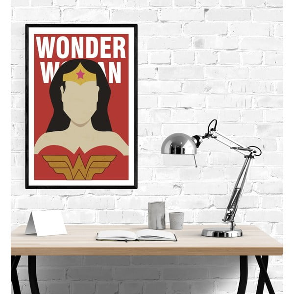 Poster Blue-Shaker Super Heroes Wonder Woman, 30 x 40 cm