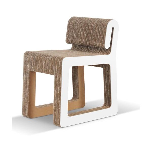 Kartonová židle Hook White