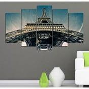 5dílný obraz Eiffelova věž