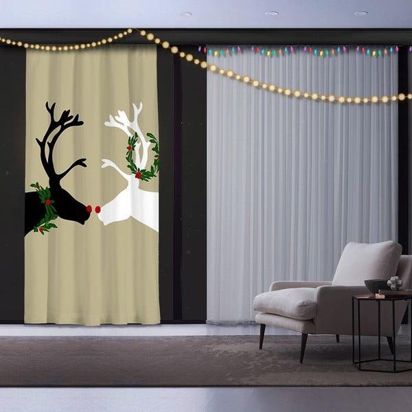 Reindeers karácsonyi függöny, 140 x 260 cm