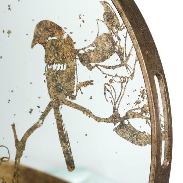 Zlatý skleněný podnos Ixia Gold Birds