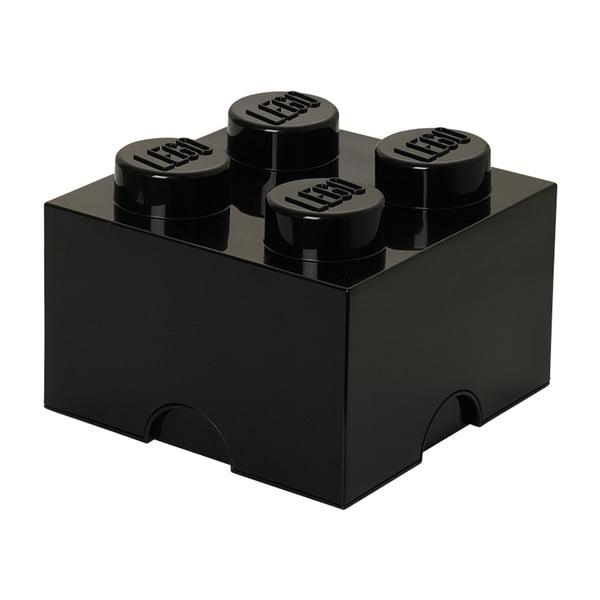 Czarny kwadratowy pojemnik LEGO®