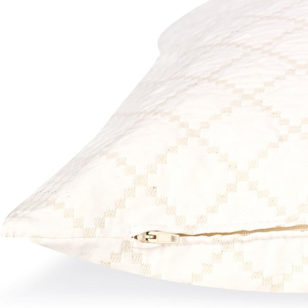 Bílý polštář Casa Di Bassi Whyte Karri, 50 x 50 cm