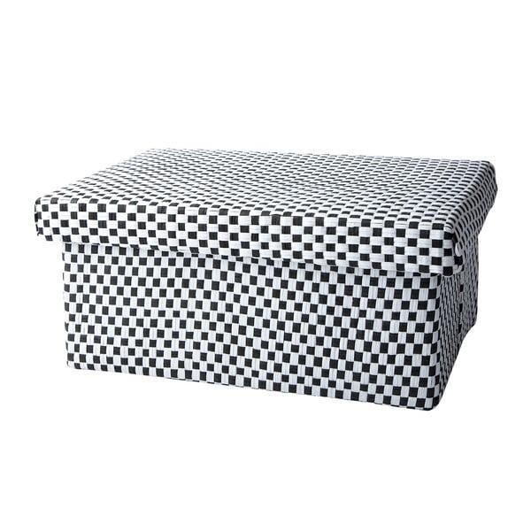Úložná kostkovaná krabice, 28x12 cm