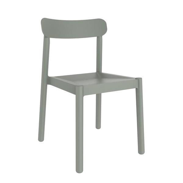 Sada 4 šedozelených zahradních židlí Resol Elba