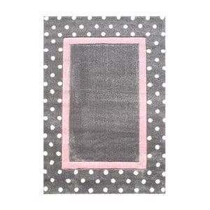 Růžovošedý dětský koberec Happy Rugs Dots, 120x180cm