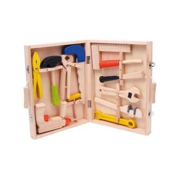 Set unelte și cutie din lemn pentru copii Legler Toy imagine