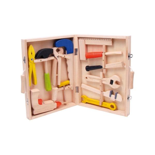 Detský drevený set náradia v kufríku Legler Toy