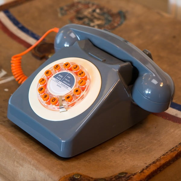 Retro funkční telefon Serie 746 Grey