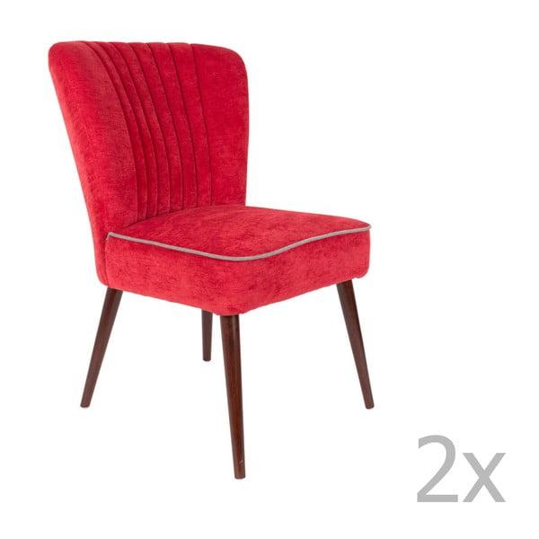 Pinzon 2 részes piros szék szett - Dutchbone