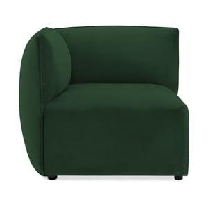 Emeraldově zelený levý rohový modul pohovky Vivonita Velvet Cube