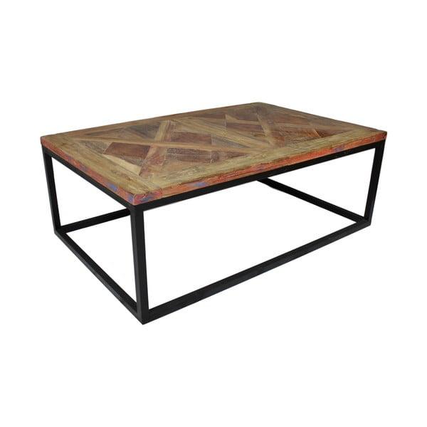 Măsuță auxiliară din lemn de tec HSM Collection Mozaik, 70 x 110 cm