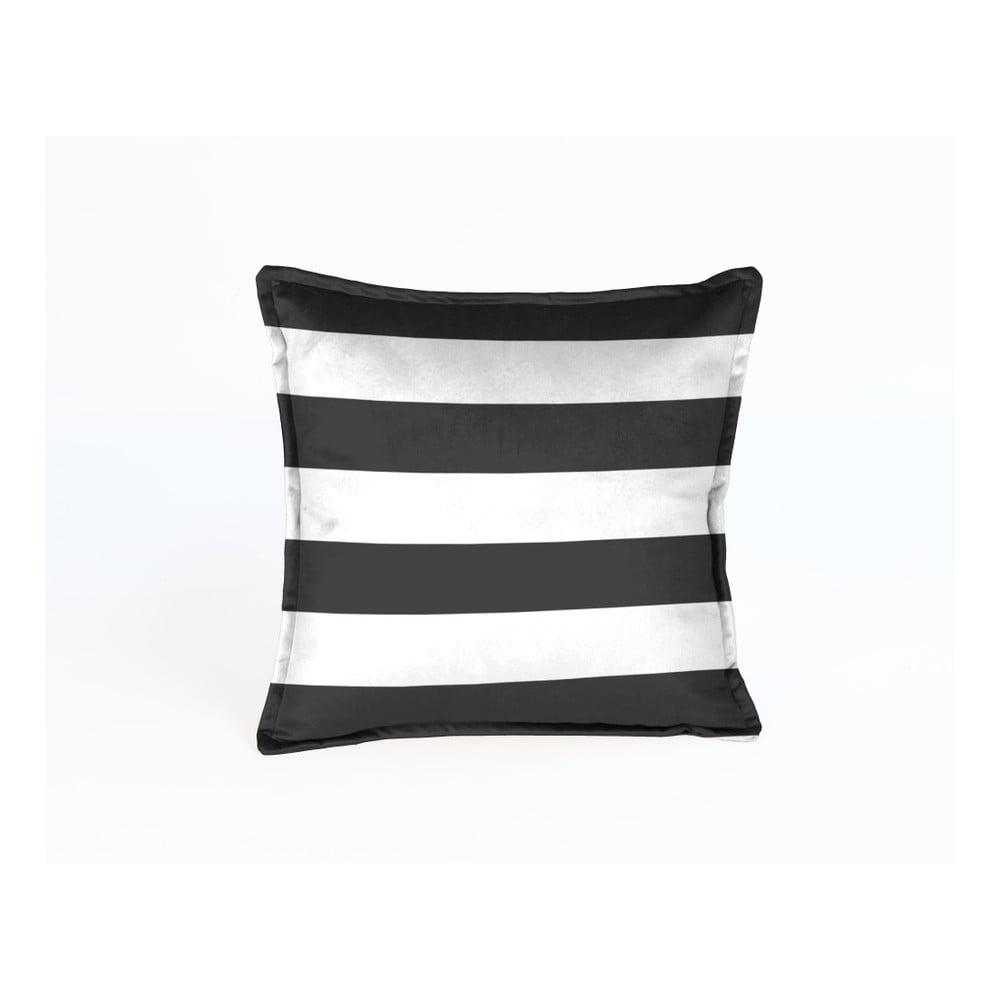 Dekorativní polštář Velvet Atelier Stripe, 45 x 45 cm