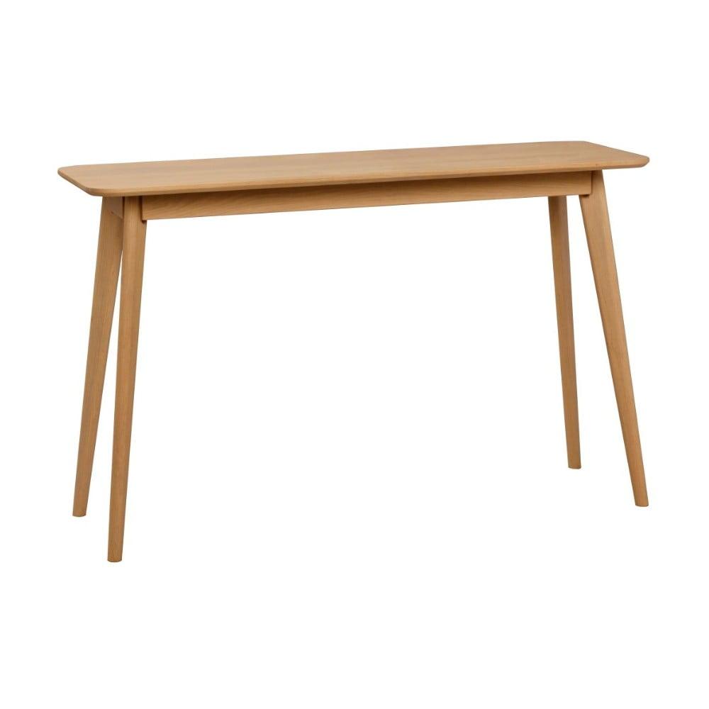 Přírodní konzolový stolek z dubového dřeva Folke Yumi