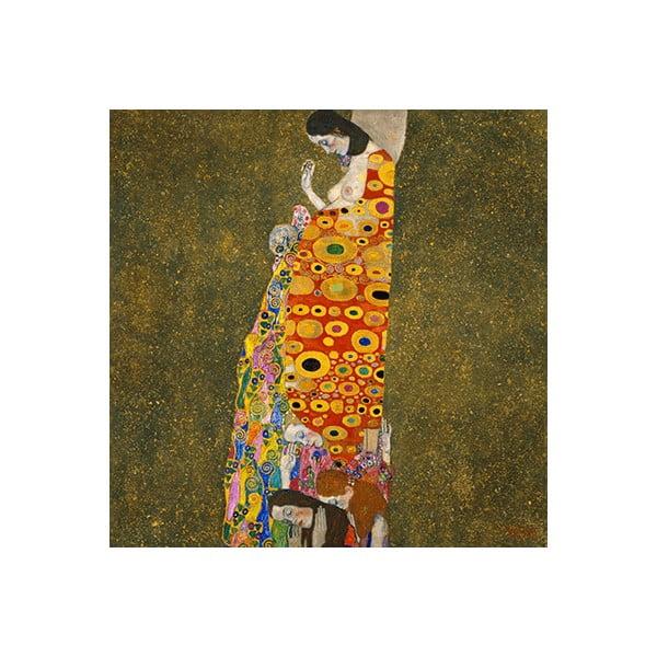 Reprodukce obrazu Gustav Klimt - Hope II, 40 x 40 cm