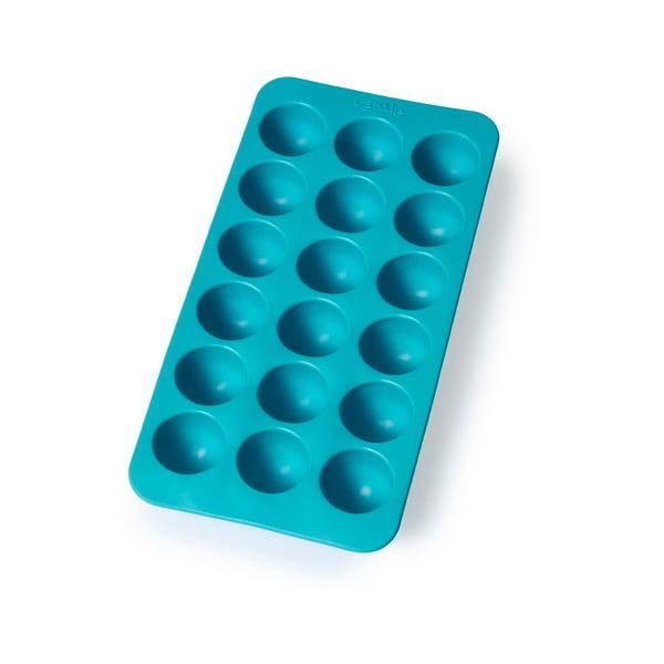 Tyrkysová silikonová forma na led Lékué Round, 18 kostek