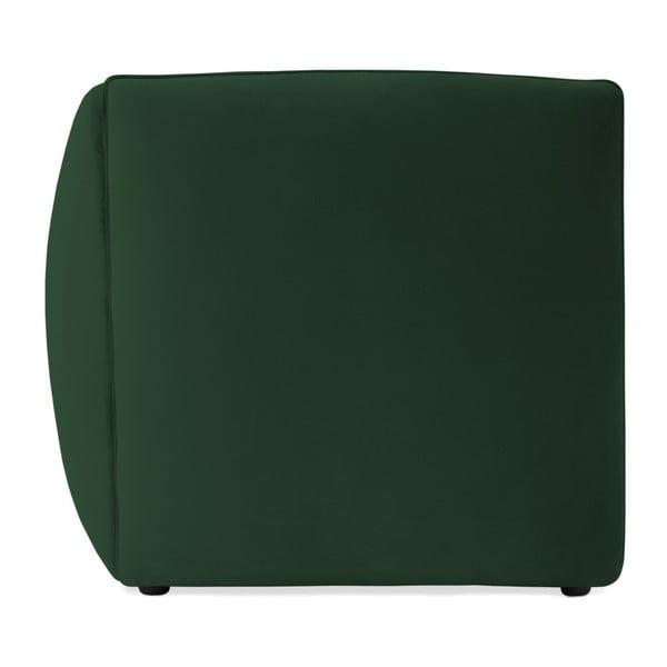 Emeraldově zelený pravý rohový modul pohovky Vivonita Velvet Cube