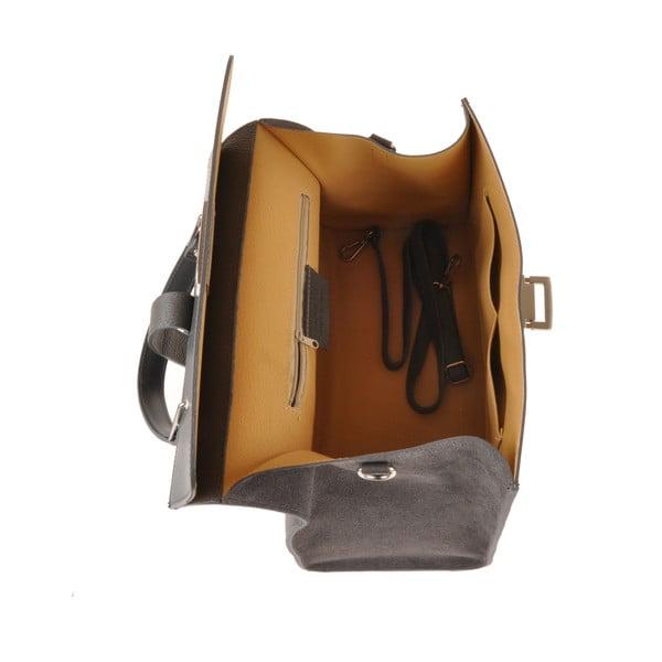 Kožená kabelka Pau, šedá