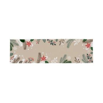 Traversă din bumbac cu motiv de Crăciun Butter Kings Frosted Branches, 140 x 40 cm