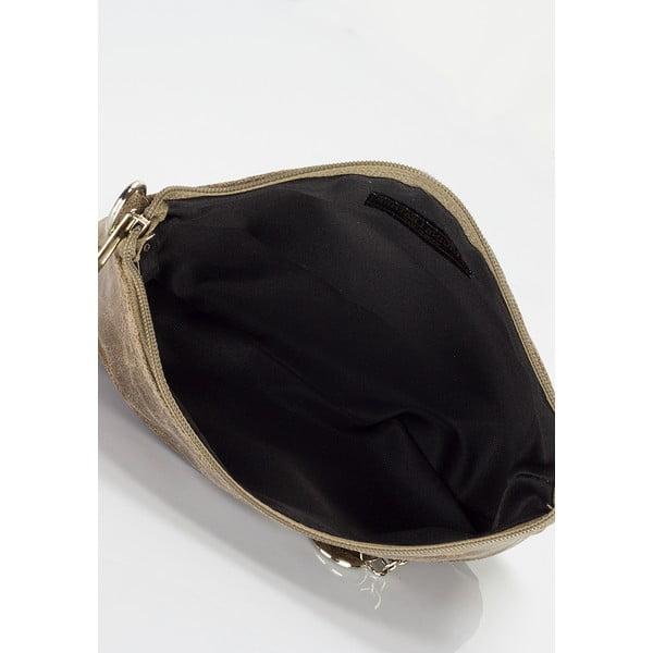 Hnědá kožená kabelka Lisa Minardi Lola
