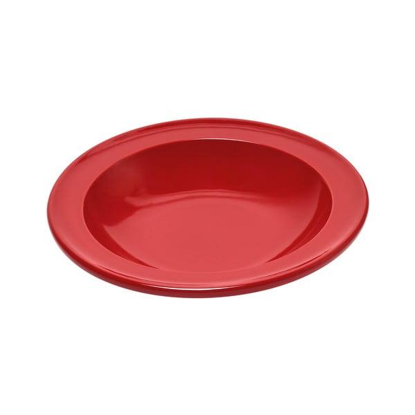 Farfurie din ceramică pentru supă Emile Henry, ⌀ 22,5 cm, roșu